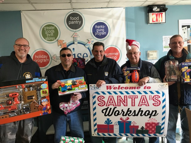 NJFOP December 7th Toy Express to Rise Foundation in Highstown NJ