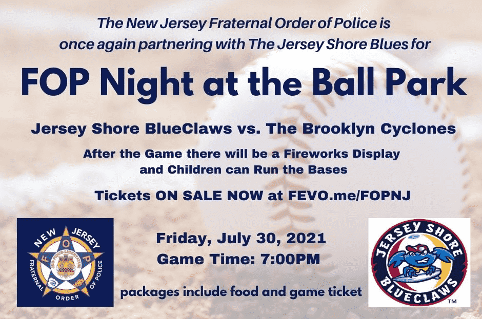 Jersey Shore BlueClaws vs. The Brooklyn Cyclones FOP Night!